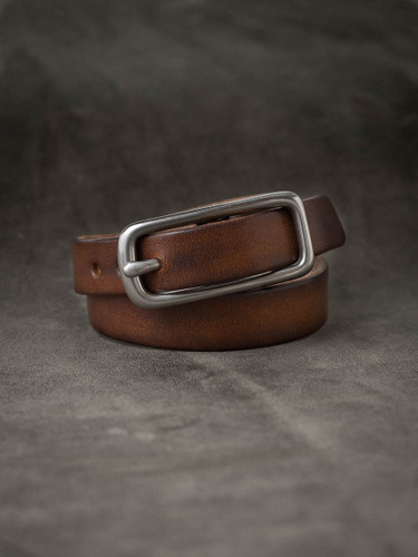 """Blake"" Vintage Russet Leather Double Wrap Bracelet"