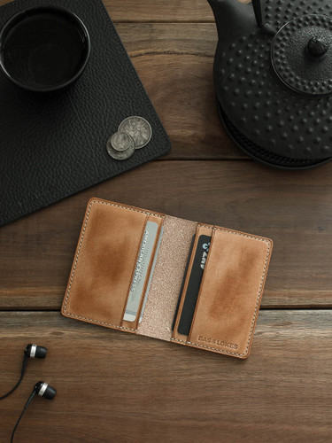 """Dean"" Vintage Natural Leather Wallet"