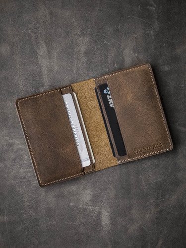 """Dean"" Brown Oil Tan Leather Wallet"