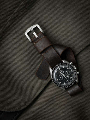 Brown oil suede nato strap