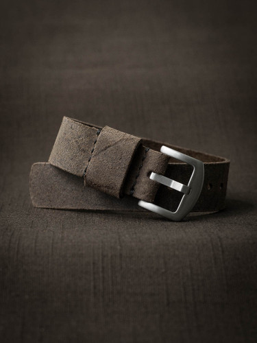 """Reed"" Rugged Mud Brown Oil Suede NATO Watch Strap"