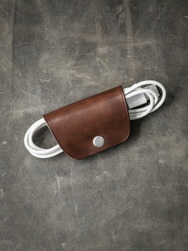 """Mason"" Vintage Russet Leather Cord Wrap"