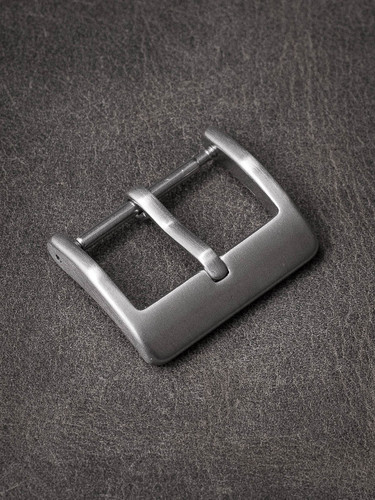 Slim steel watch buckle