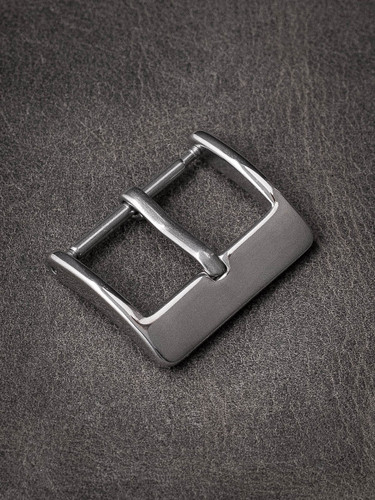 Slim polished spring bar watch buckle