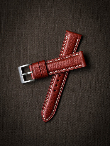 """Cole"" Red Hot Leather Watch Strap"