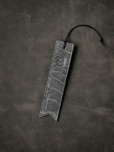 Ostrich Leather Bookmark