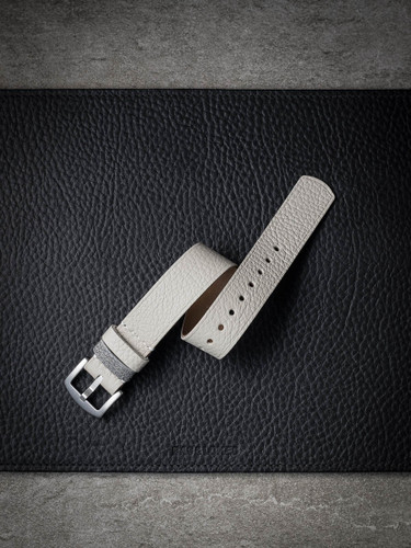 white bone leather nato strap