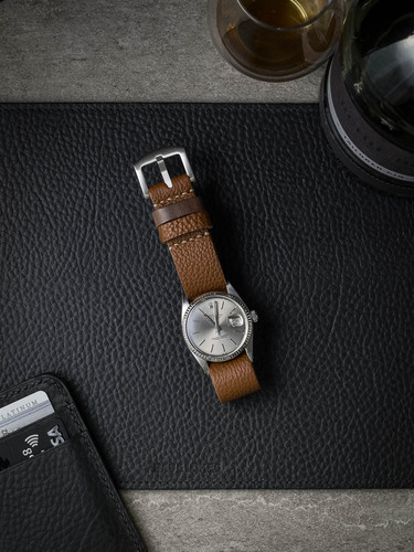 Caramel Tan Leather NATO Strap