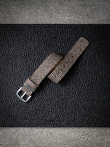 grey beige leather nato strap
