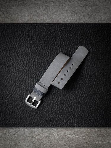 Light grey suede nubuck NATO watch strap