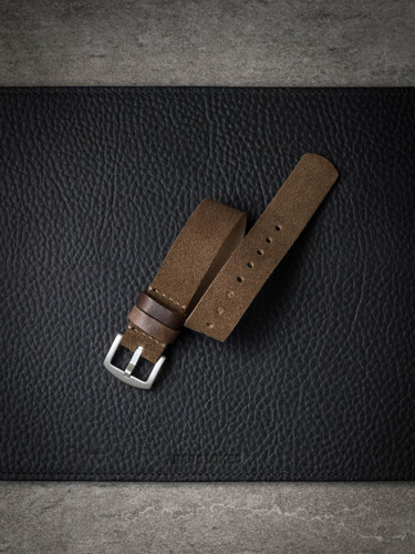 camel tan suede nato watch strap