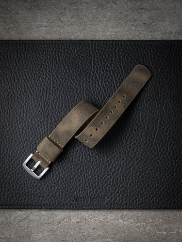 oil suede nato watch strap