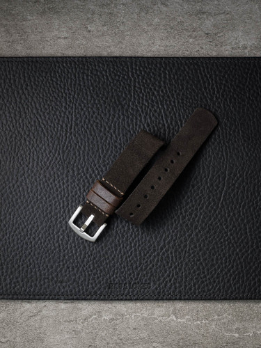 Brown Suede NATO Watch Strap