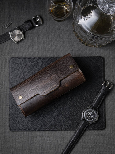 Leather Watch Roll