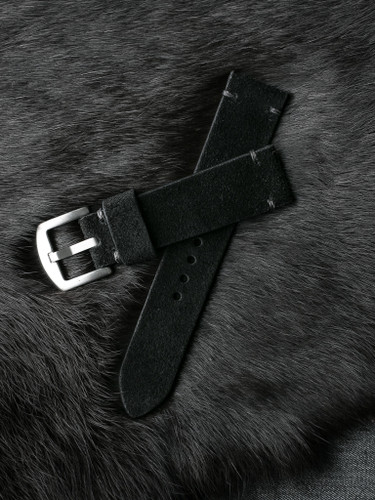 SOLD OUT - Lucius Black Suede Watch Strap