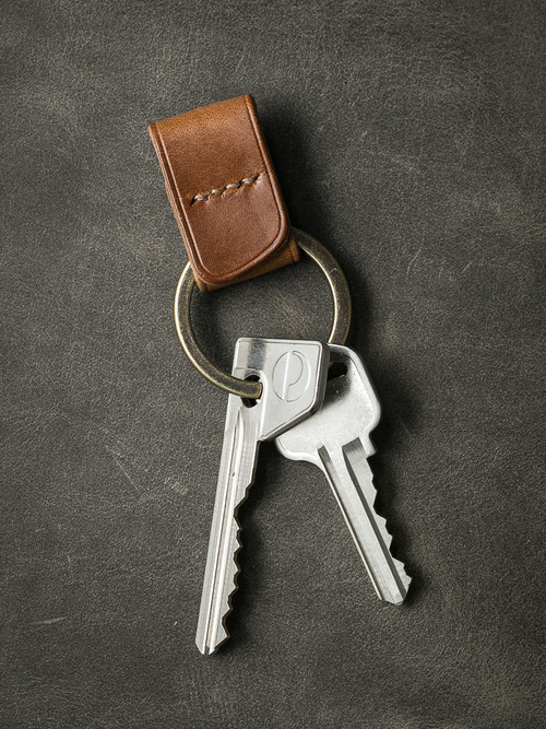 """Guardian"" Whiskey Handmade Leather Key Fob"