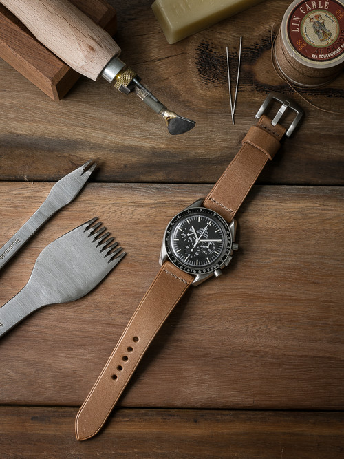 """Asher"" Natural Leather Watch Strap"