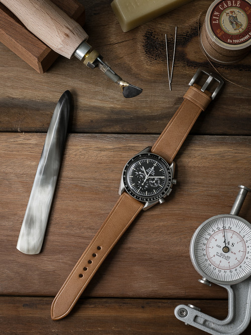 """Valdez"" Natural Leather Watch Strap"