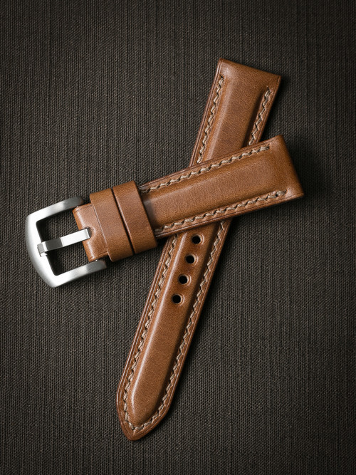 """""""Guinness"""" Whiskey Padded Leather Watch Strap"""
