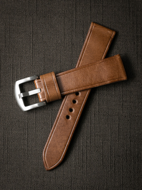 """Harrison"" Whiskey Leather Watch Strap"