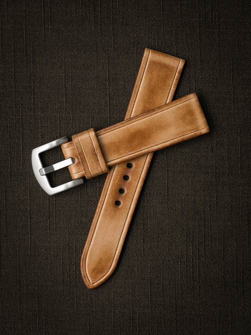 """Ghallagher"" Natural Vintage Leather Watch Strap"