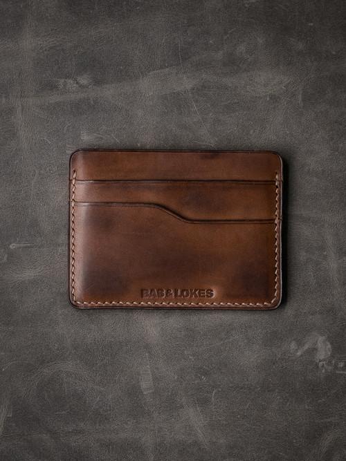 """""""Ford v2"""" Bourbon Vintage Tan Slim Leather Wallet"""