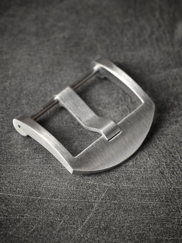 Brushed Screw-In Thumbnail Steel Watch Buckle