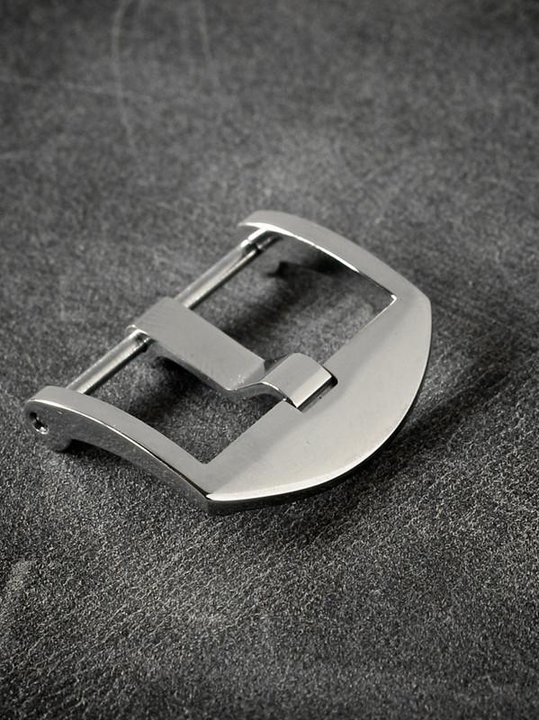 Polished Screw-In Thumbnail Steel Watch Buckle