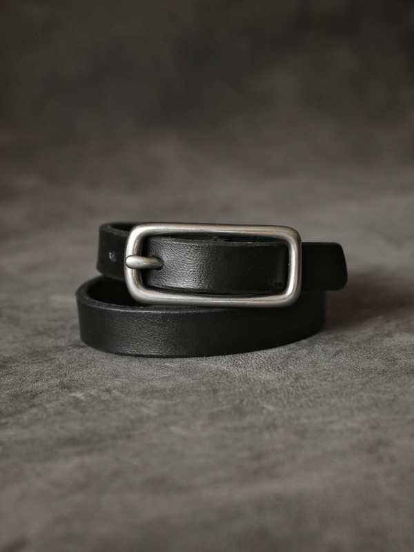 """Blake"" Black Handmade Leather Double Wrap Bracelet"
