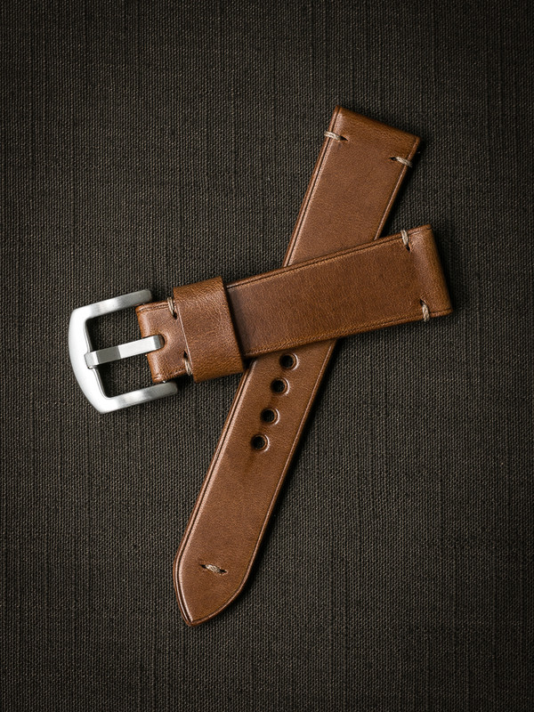 Bas and Lokes whiskey handcrafted leather watch strap