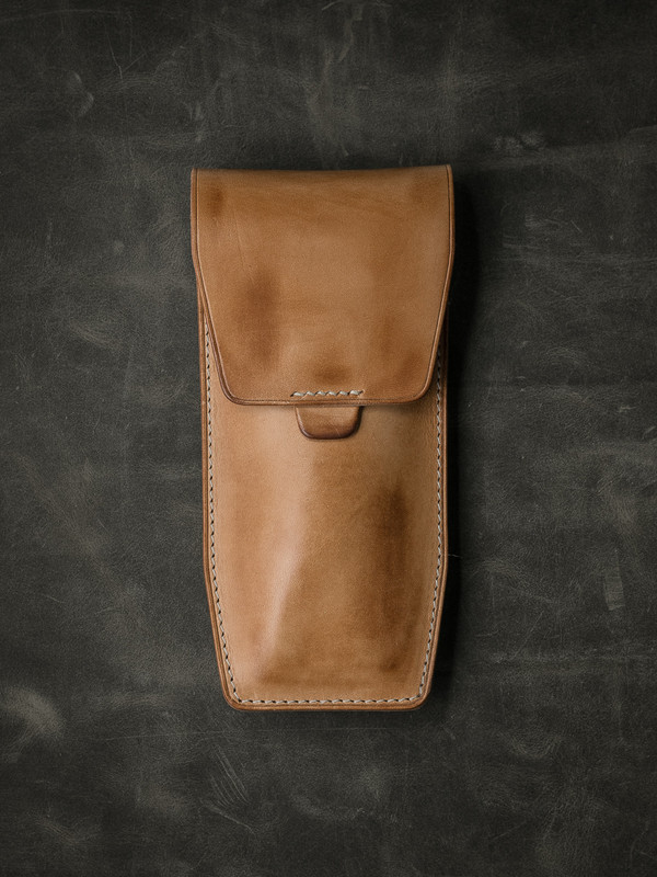 """""""Kingsford"""" Natural Vintage Leather Watch Pouch"""