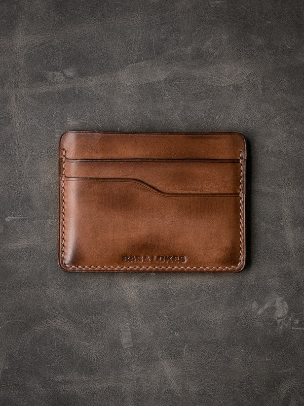 """Ford v2"" Vintage Russet  Slim Leather Wallet"