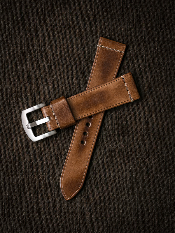"""""""Luca"""" Vintage Bourbon Handcrafted Leather Watch Strap"""