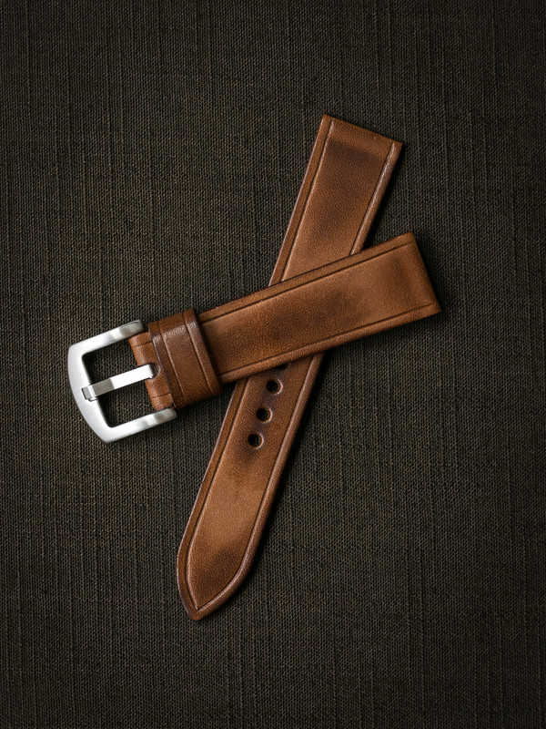 """Digby"" Vintage Bourbon Handcrafted Leather Watch Strap"