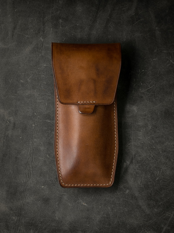 """Kingsford"" Vintage Bourbon  Leather Watch Pouch"