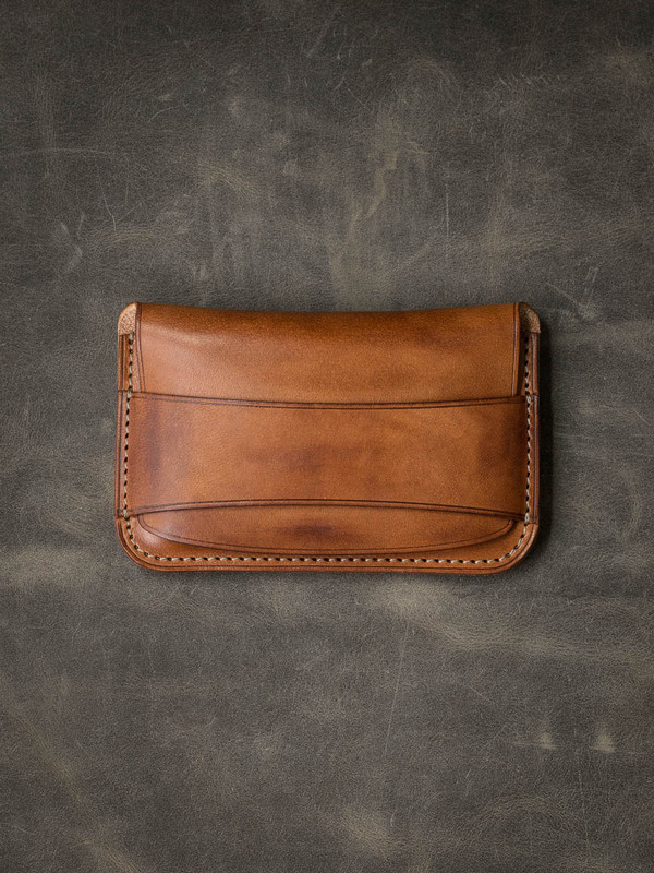 """Grant"" Vintage Bourbon Leather Wallet"