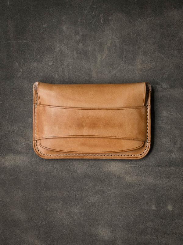 """""""Grant"""" Vintage Natural Leather Wallet"""