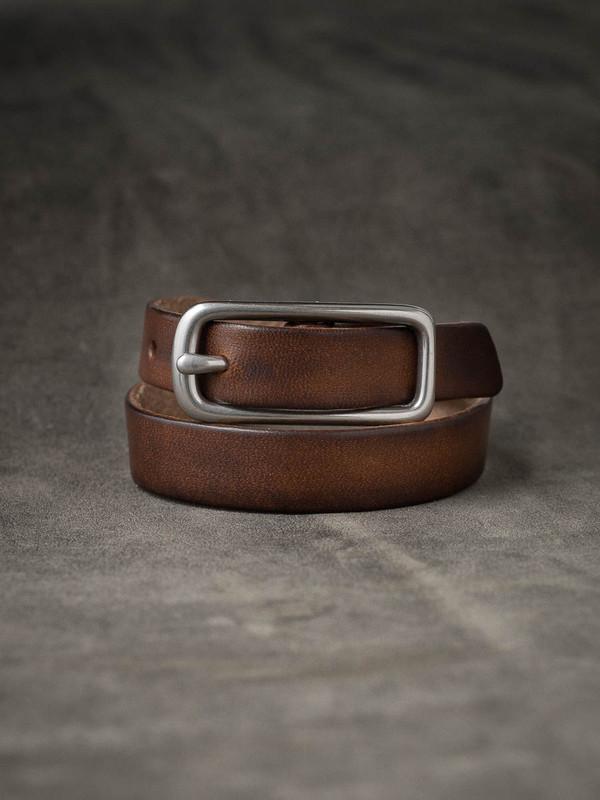 """Blake"" Vintage Russet Leather Double Wrap Bracelet"