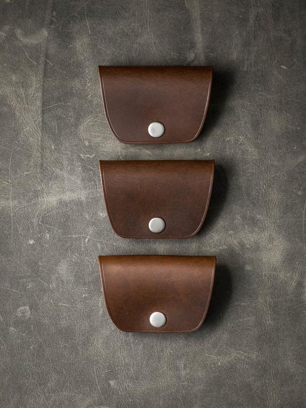 """Mason"" Walnut Brown Leather Cord Wrap"