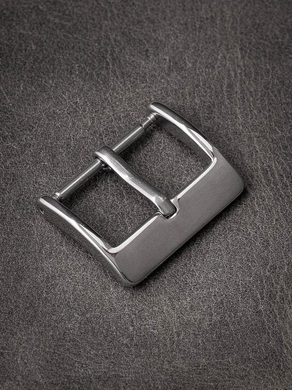 Slim polished spring bar watch buckle