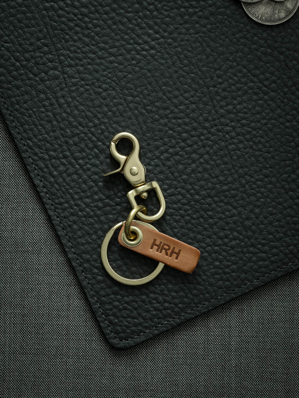Bas and Lokes Vintage Natural Leather Key Fob