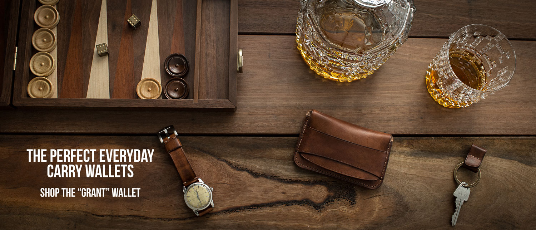 Leather Flap Wallets
