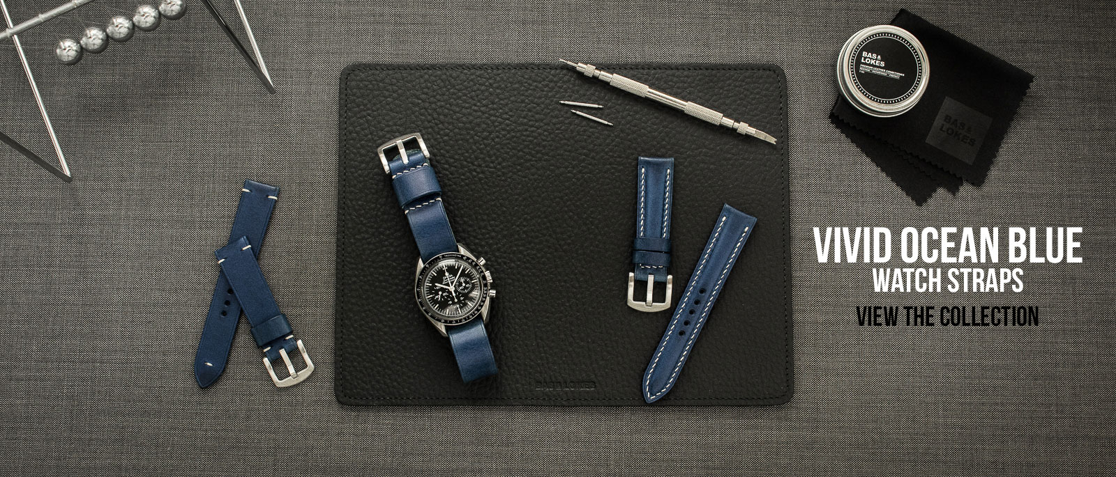 Blue Leather Watch Straps