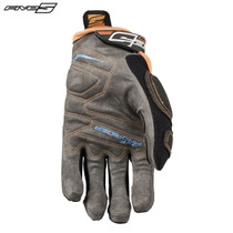 Five MXF Pro Rider S Adult Gloves Blue/Flo Orange