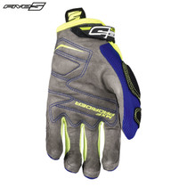 Five MXF Pro Rider S Adult Gloves Blue/Flo Yellow