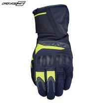 Five WFX2 Waterproof Adult Gloves Black/Flo Yellow