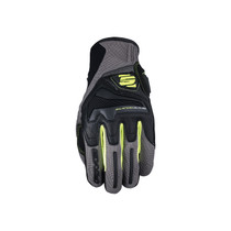 Five RS4 Adult Gloves Grey/Yellow