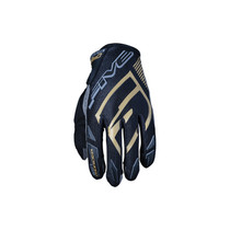 Five MXF Pro Riders Adult Gloves Black/Gold