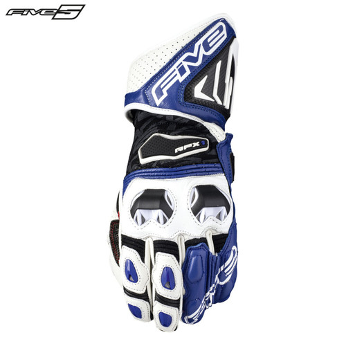 Five RFX1 Adult Gloves White/Blue