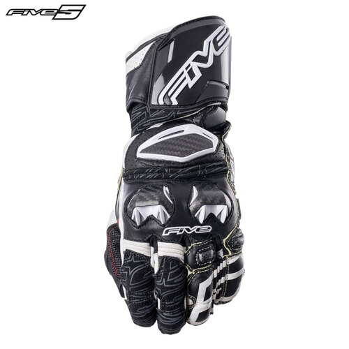 Five RFX Race Adult Gloves Black/White